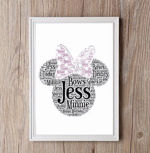 Personalised Minnie Mouse Word Art