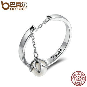Tears Of Flowers Dangle Open Finger Ring - 925 Sterling Silver