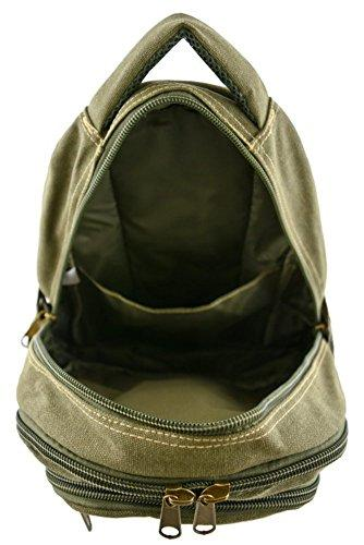 "Canvas Backpack Designer Black Small 12"" Rucksack Vintage Rustic Style Travell Well Perfect Size School Bags - Travell Well"