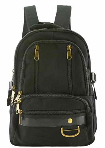 Canvas Backpack Black Designer Vintage Style School Bag Travell Well Bags - Travell Well