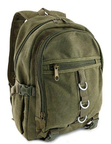 "Canvas Backpack Vintage Rucksack Military Green Casual Style 12 "" 13 School Bag Travell Well Designer Bags Mochila Sac a dos - Travell Well"