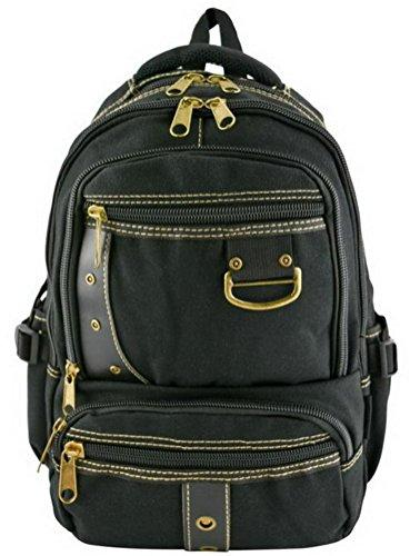 Canvas Backpack Quality Designer Black Rucksack Vintage Travell Well School Bags Backpacks - Travell Well