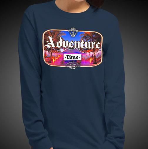 Adventure Time Travel Tee Girls Long Sleeve Shirt Authentic Quality Womens Shirts - Travell Well