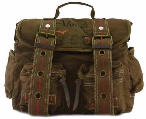 Quality Canvas Messenger Bag Military Straps Rucksack Vintage Messenger Khaki Tan Laptop Stylish Cross Shoulder Bag Travell Well Bags - Travell Well