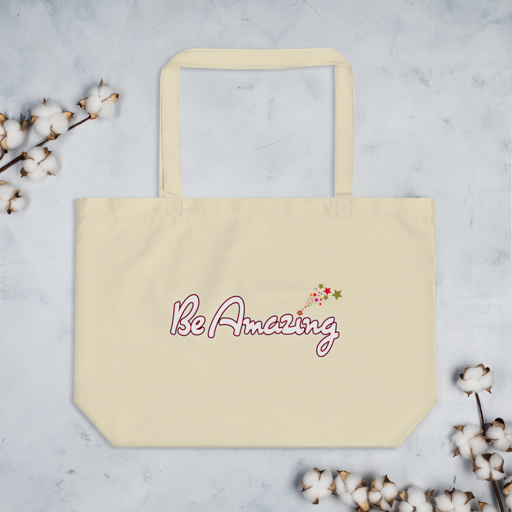 Max La Vida Be Amazing Large Tote Bags