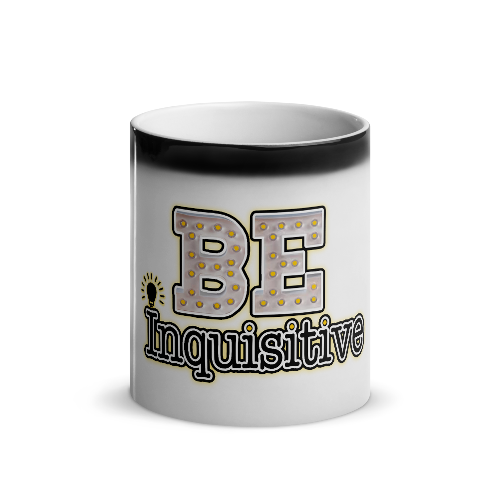 Max La Vida Be Inquisitive Coffe Cup Faded Black Cafe Coffee Cups Mugs