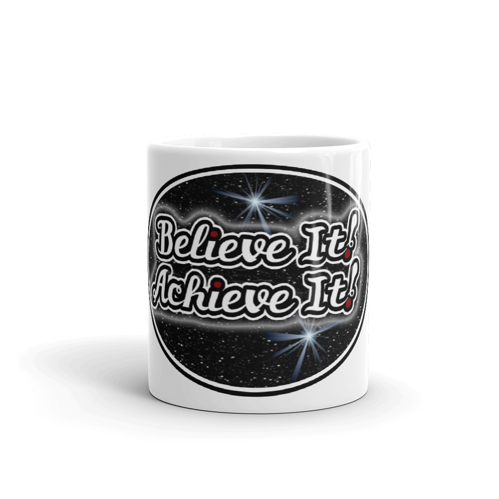 Max La Vida Believe It Achieve It Coffee Cup White Motivation Cafe Cups Mugs