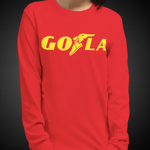 GO LA Teams Shirt Long Sleeve Women's Let's GO L.A. Los Angeles Game Time Long T-Shirt Tee Tops