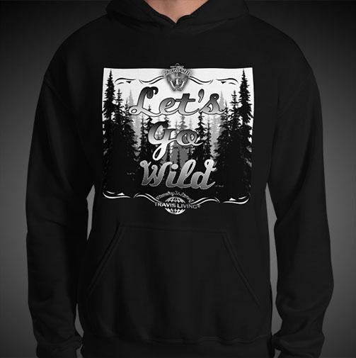Let's Go Wild Wildlife Hoodie Mens Authentic Quality Hoodies Men Hoods - Travell Well