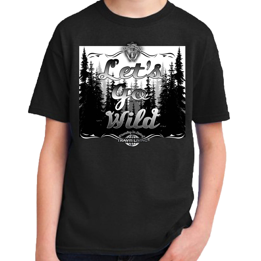 Travell Well Shirt Boys Travel Let's Go Wild T-Shirt Boy Tees