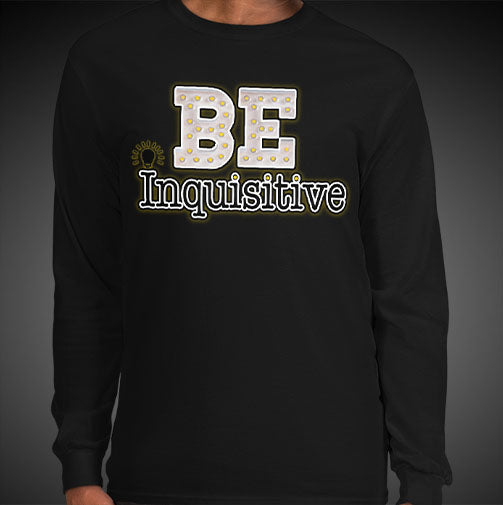 Max La Vida Men's Be Inquisitive Motivational Long Sleeves