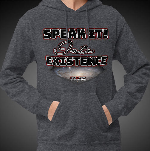 Max La Vida Men's Speak It Into Existence Motivational Hoodies