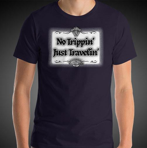 No Trippin' Just Travelin' Travel Shirt Mens World Travel T-Shirt Men Tees - Travell Well