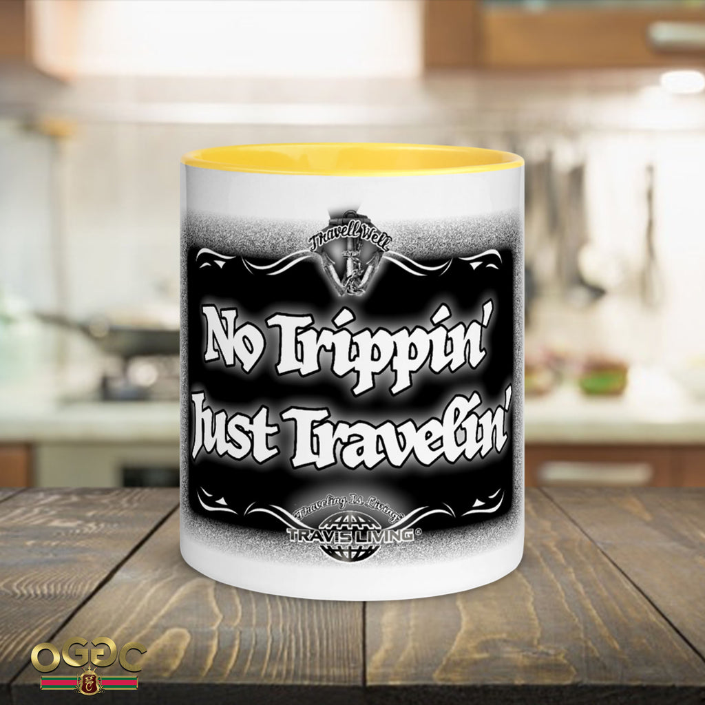 No Trippin' Just Travelin' Coffee Cup Multi-Color Travel Coffee Mug Cups