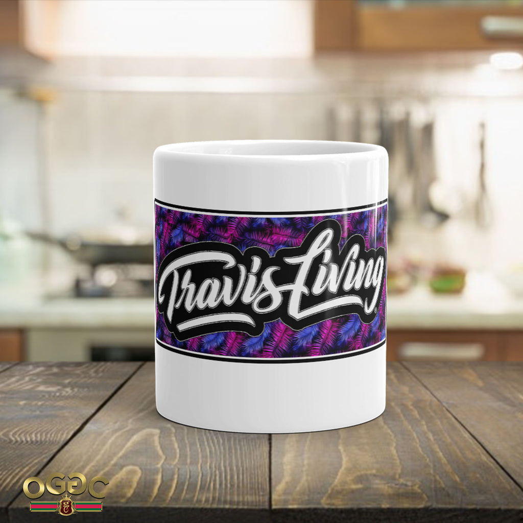 Travis Living Palm Leaves Coffee Cup Travel Cafe Cups Mugs