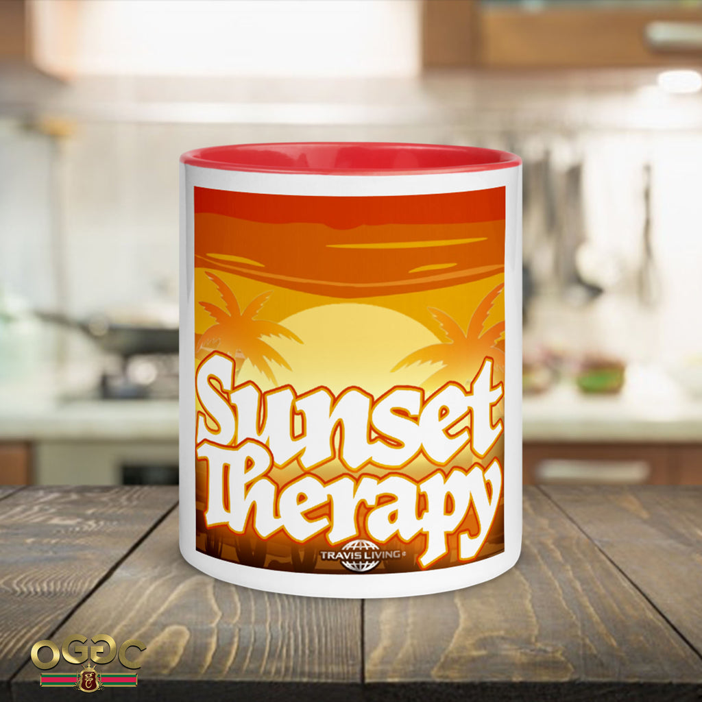 Sunset Therapy Coffee Cup Multi-Color Island Beach Coffee Cups Mugs