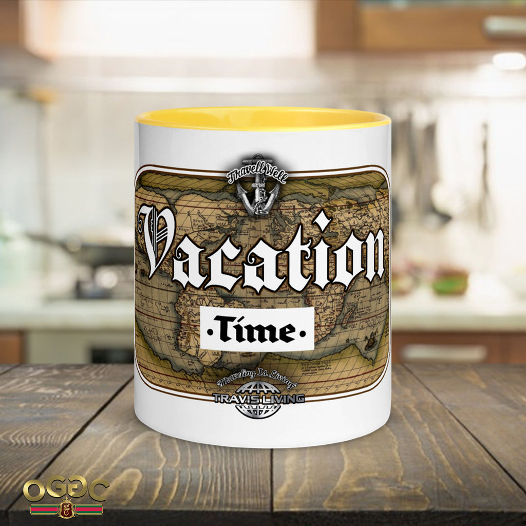 Vacation Time Coffee Cup Multi-Color Vacay Travel Coffee Tea Cups Mugs