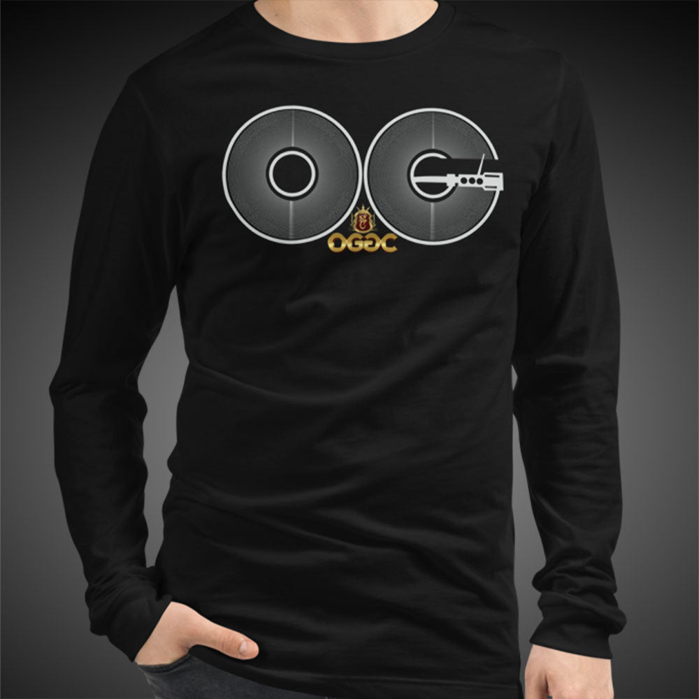 OGGC Big OG Vinyl Record DJ Tee Men Long Sleeve Shirt Authentic Quality Men's Shirts