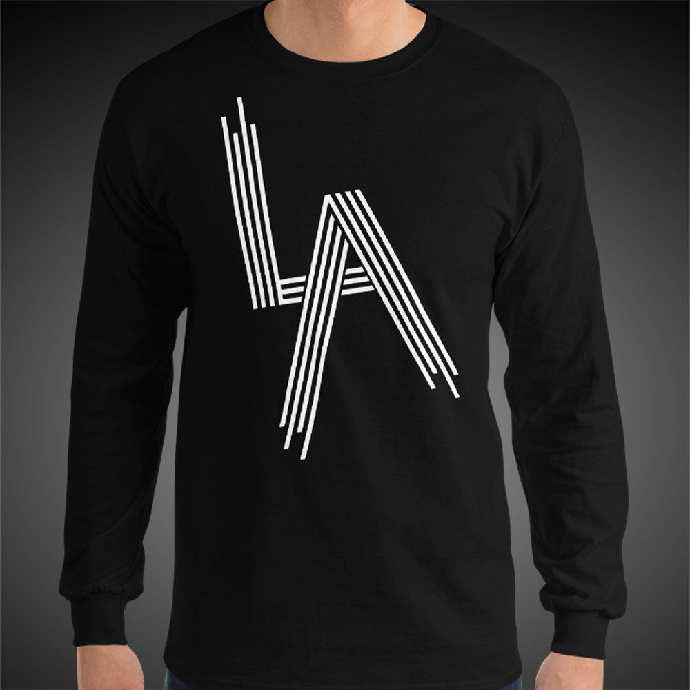 L.A. Railroad Tee Men Long Sleeve Shirt Authentic Quality Men's Shirts