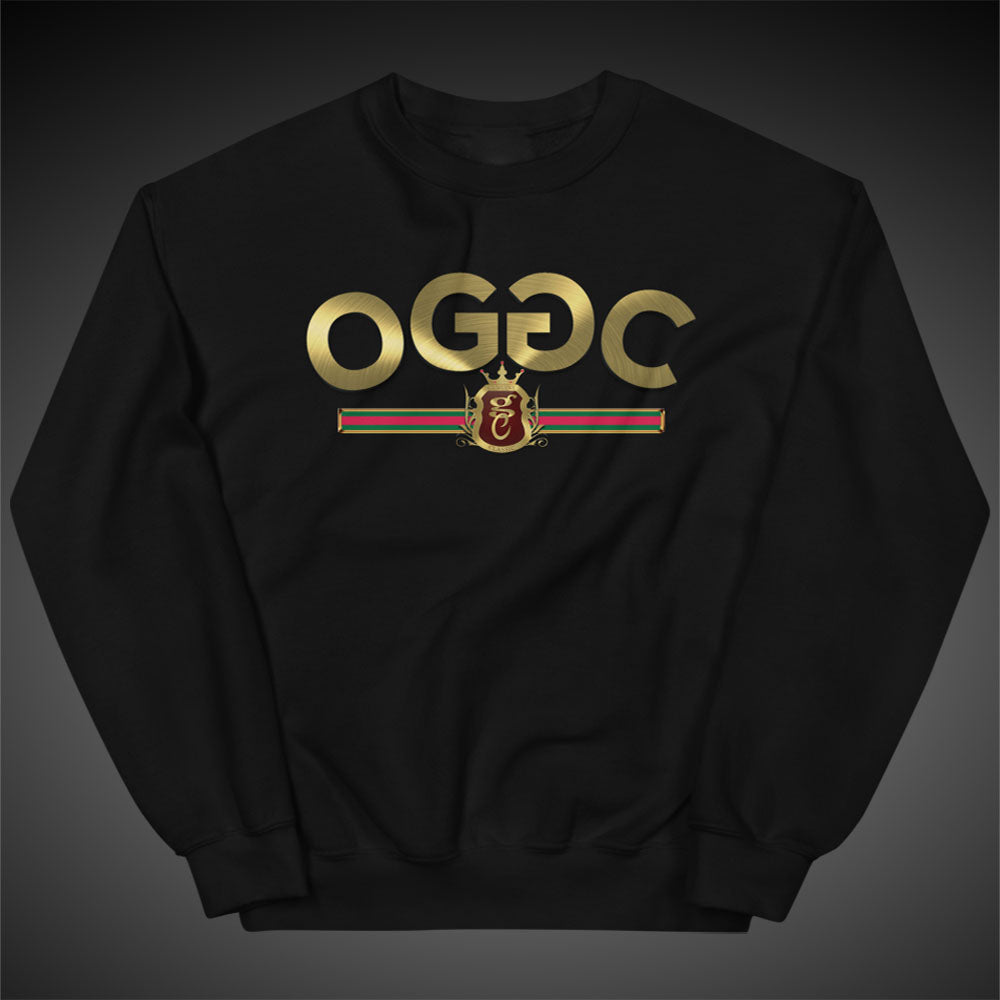 OGGC Sweatshirts Gold Stripes Crewneck Women Pull-Over Sweatshirt Authentic Quality Apparel