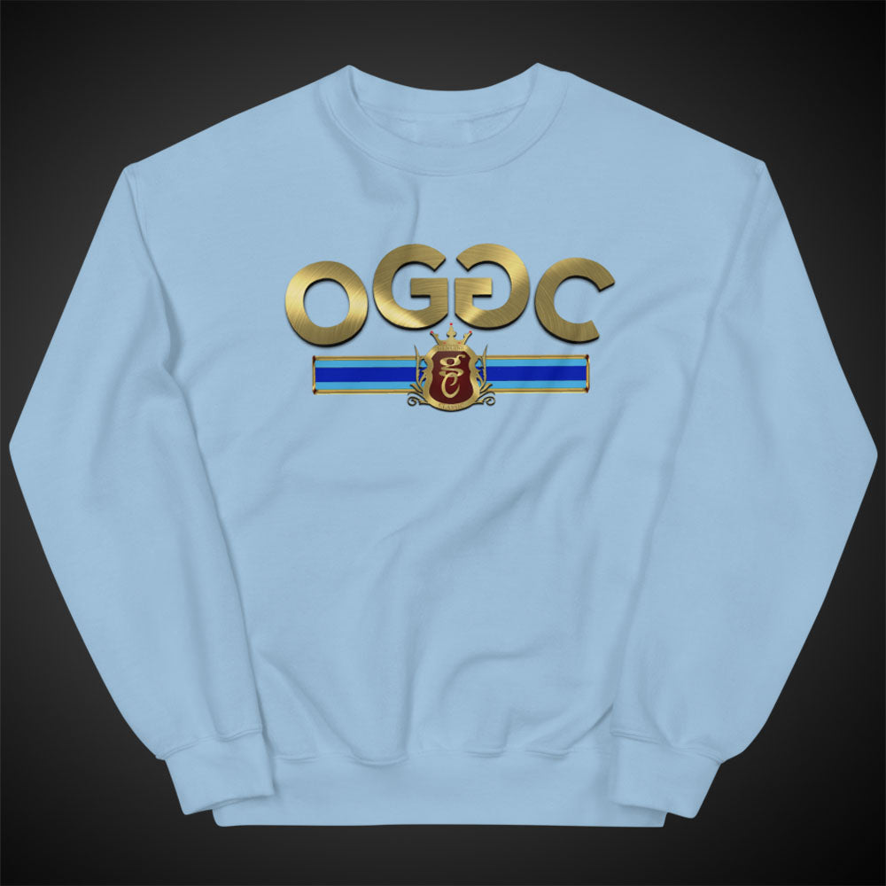 OGGC Sweatshirts Gold Stripes Style Crewneck Pull-Over Sweatshirt Authentic Quality Apparel