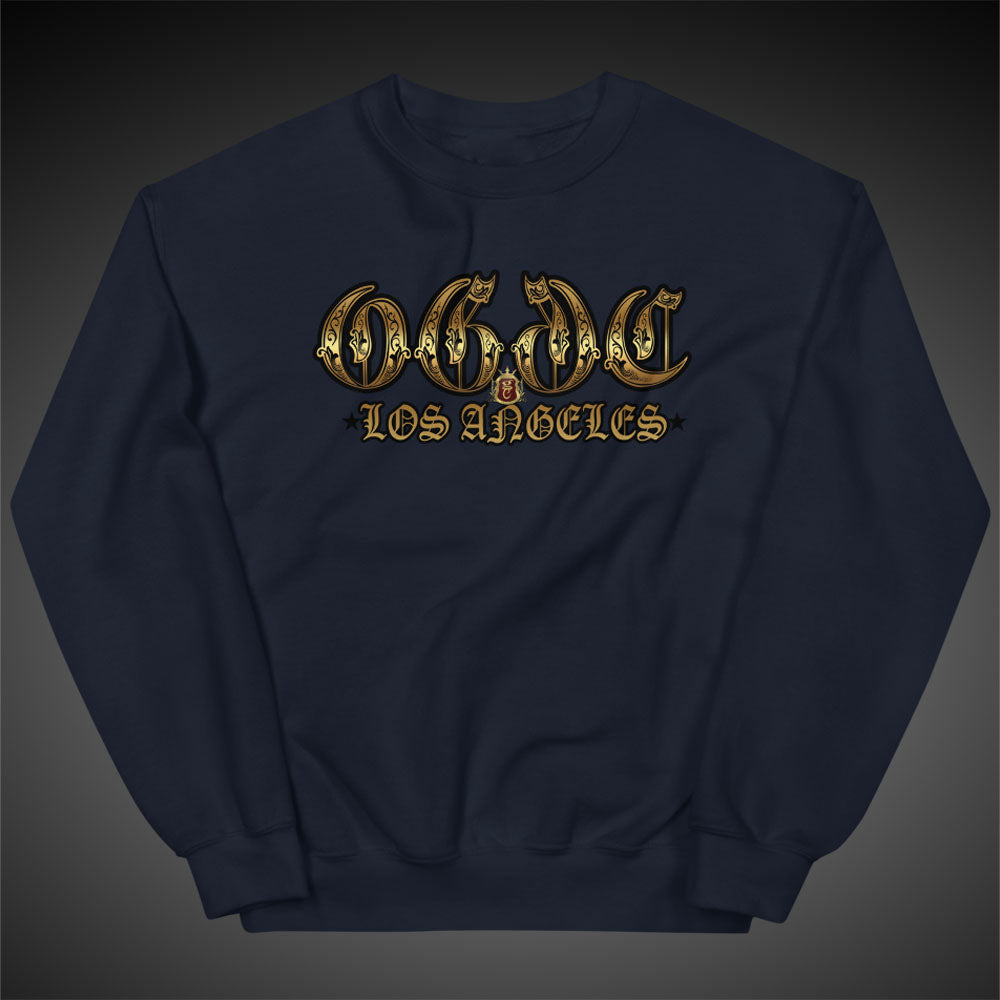 OGGC Sweatshirts Los Angeles Old E Crewneck Women Pull-Over Sweatshirt Authentic Quality Apparel