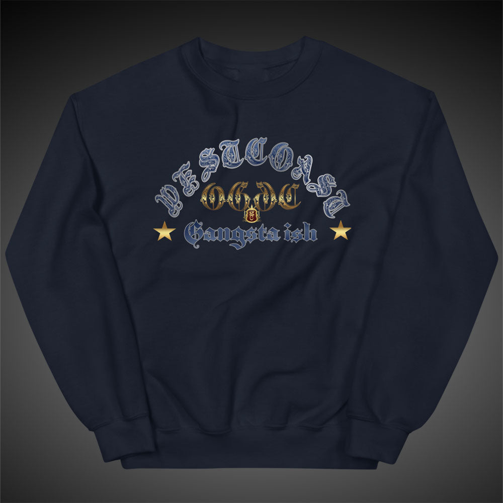 OGGC Sweatshirts West Coast Gangster Ish Crewneck Pull-Over Sweatshirt Authentic Quality Apparel