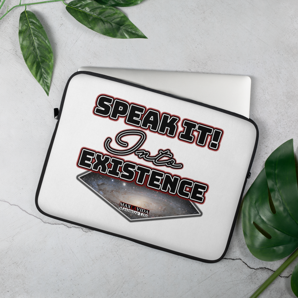 Max La Vida Speak It Into Existence Laptop Cases