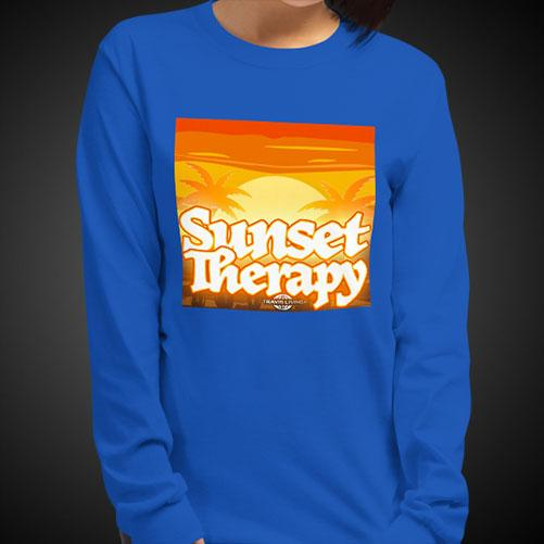 Sunset Therapy Tee Girls Long Sleeve Shirt Authentic Quality Womens Shirts - Travell Well