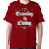 Travell Well Shirt Boys Travel Traveling is Living T-Shirt Boy Tees