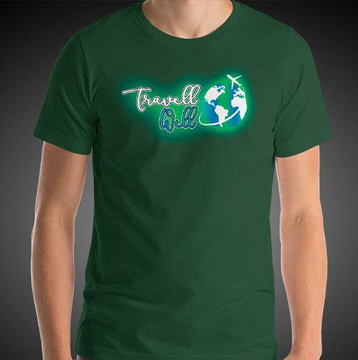 Travell Well Logo Travel Shirt Mens World Travel T-Shirt Men Tees - Travell Well