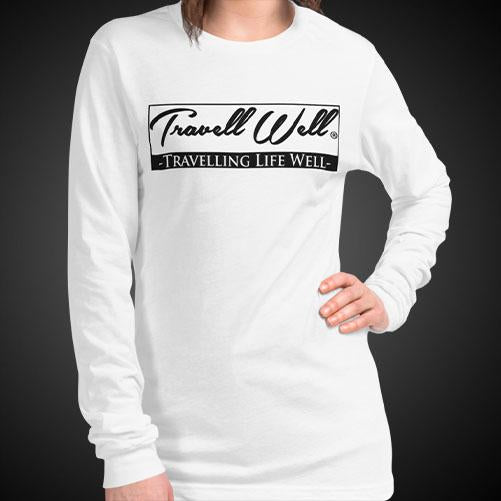 Travell Well Travel Tee Girls Long Sleeve Shirt Authentic Quality Womens Shirts - Travell Well