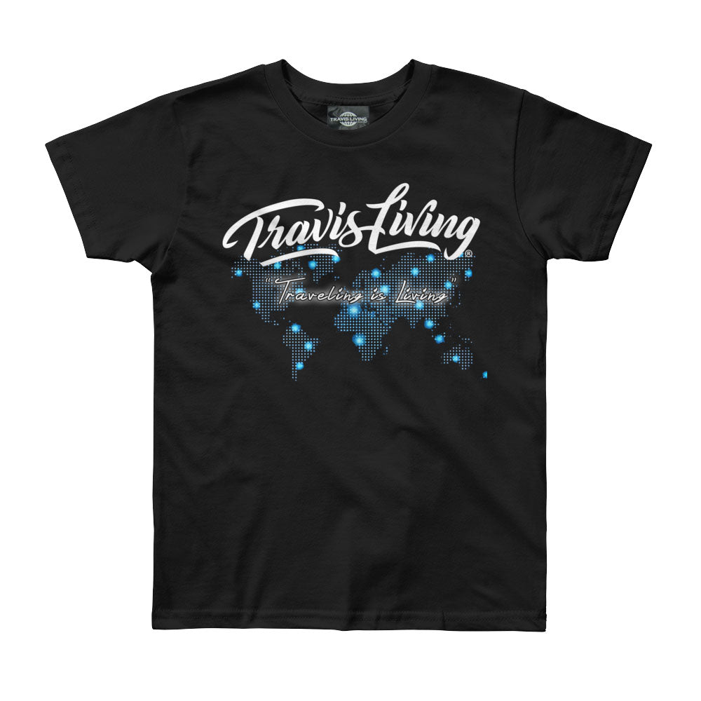 Travis Living Shirt Boys Travel World Map T-Shirt Boy Tees