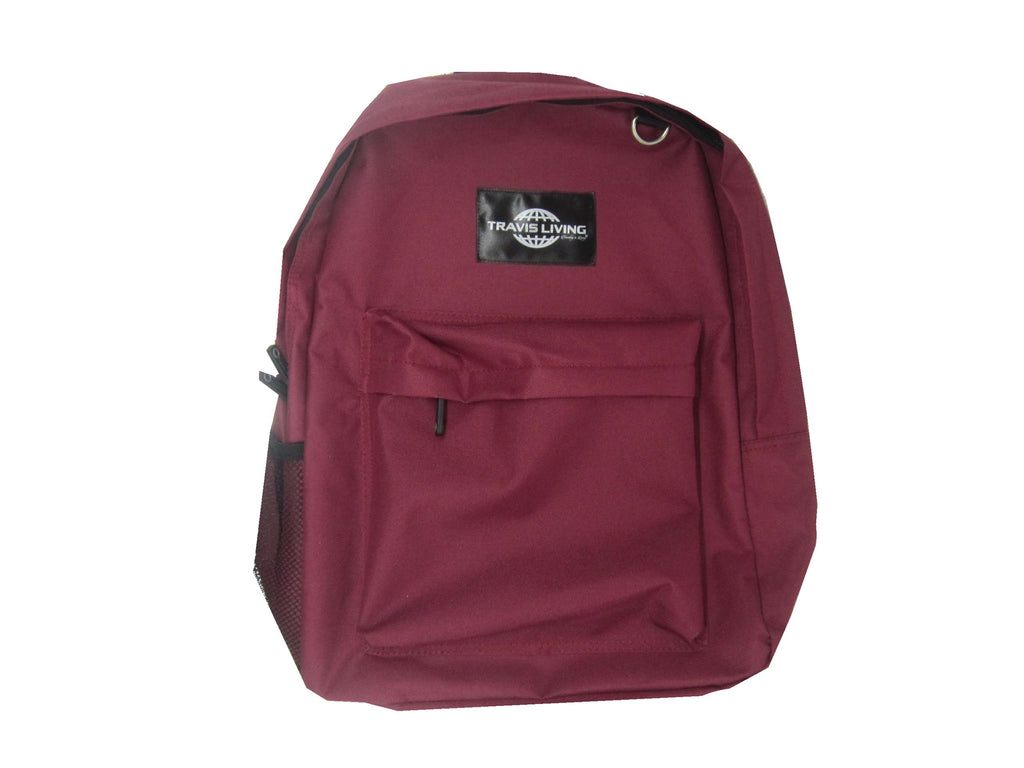 Travis Living Backpacks School Bag Boys Girls Perfect Size School Maroon Backpack