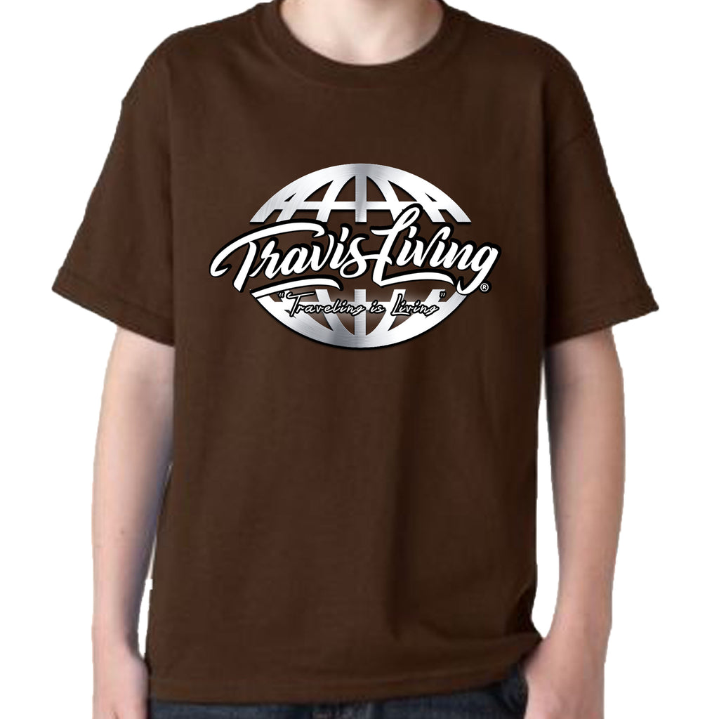 Travis Living Shirt Boys Travel World Platinum Globe Boy Tee Shirts