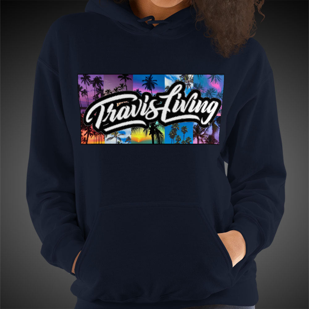 Travis Living Hoodie Palm Trees Womens Hoodies Quality Hoods
