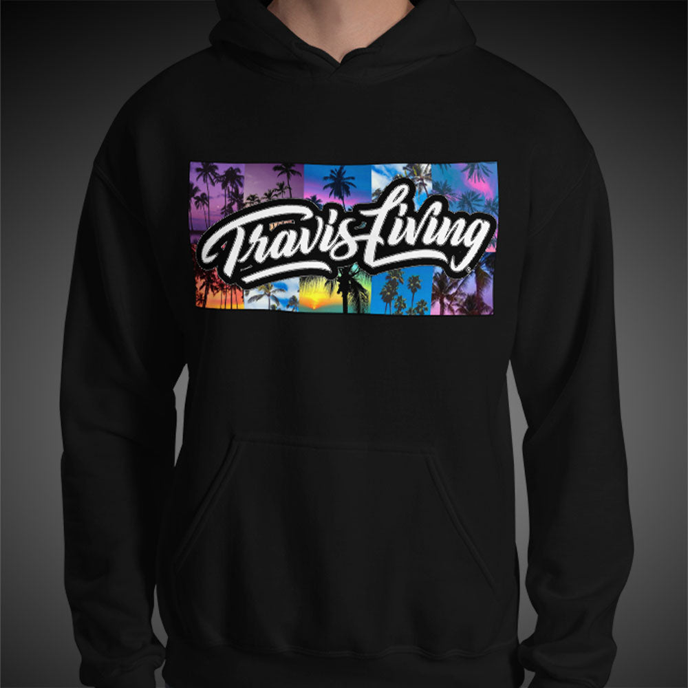 Travis Living Hoodie Palm Trees Mens Hoodies Quality Hoods