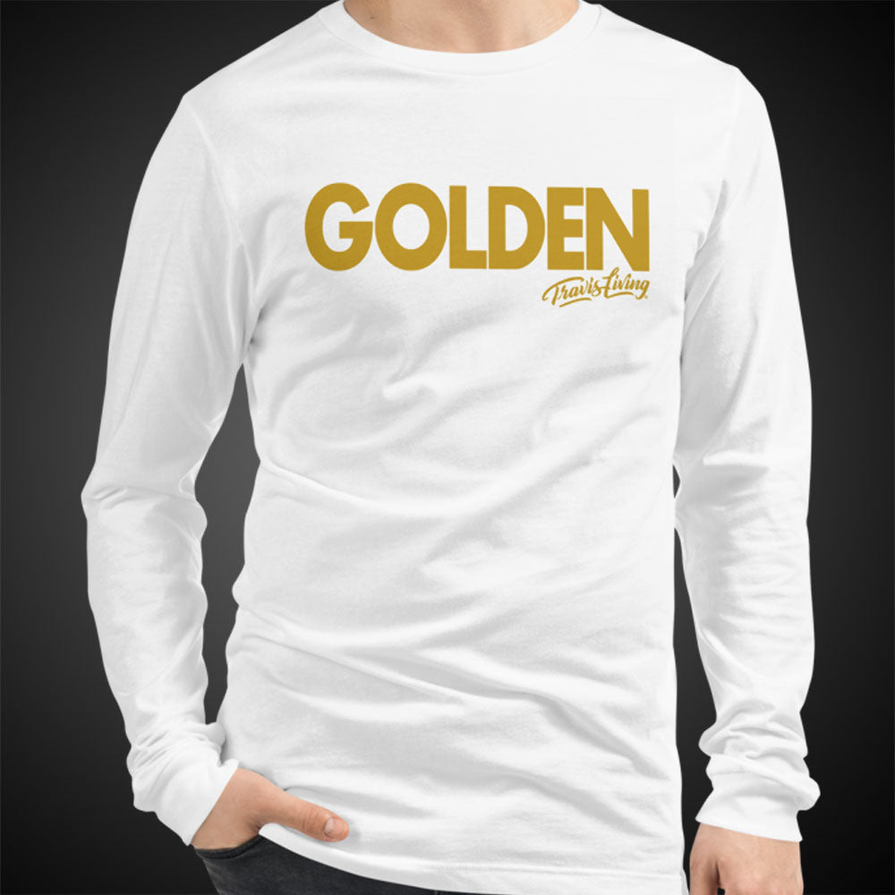 Travis Living Long Sleeve Shirt Mens Travel Golden T-Shirt Men Tees