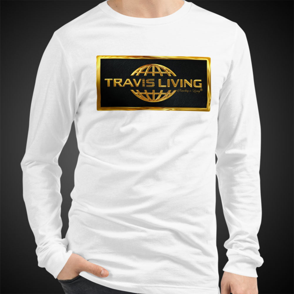Travis Living Long Sleeve Shirt Mens Gold Collection T-Shirt Men Tees