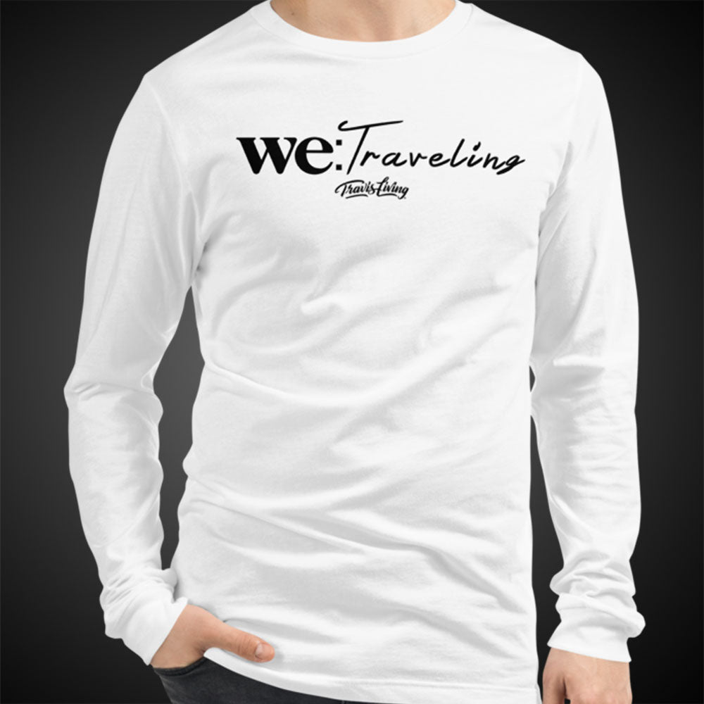 Travis Living Long Sleeve Shirt Mens We Traveling T-Shirt Men Tees