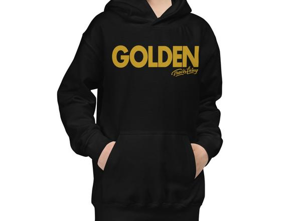 Travis Living Hoodie Golden Youth Boys Hoody Boy Hoods Juniors