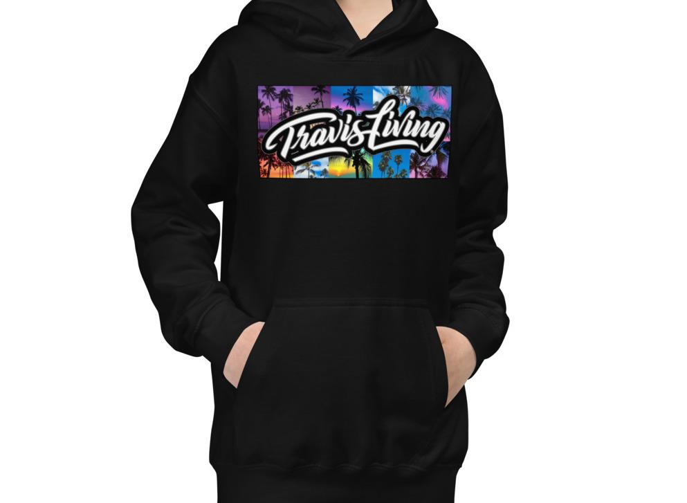 Travis Living Hoodie Palm Trees Travel World Beach Islands Youth Boys Hoodies