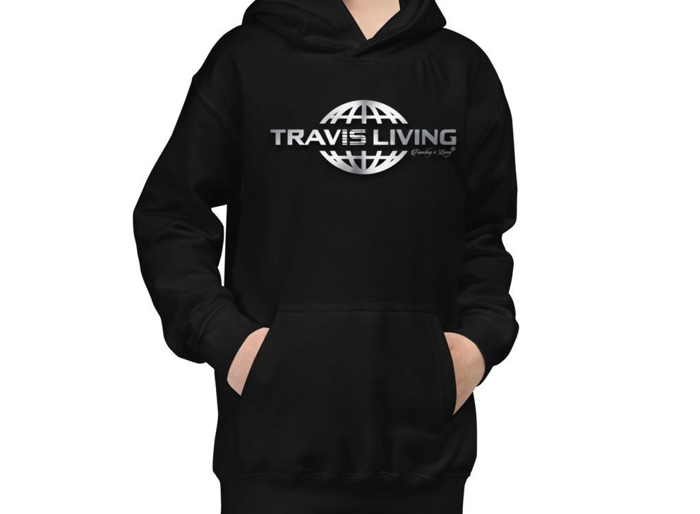 Travis Living Hoodie Travel World 3D Globe Youth Boys Hoody Boy Hoods Juniors