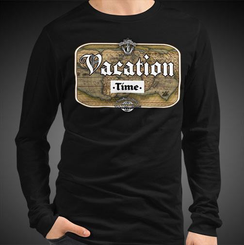 Vacation Time Travel Tee Men's Long Sleeve Shirt Authentic Quality Men's Shirts - Travell Well