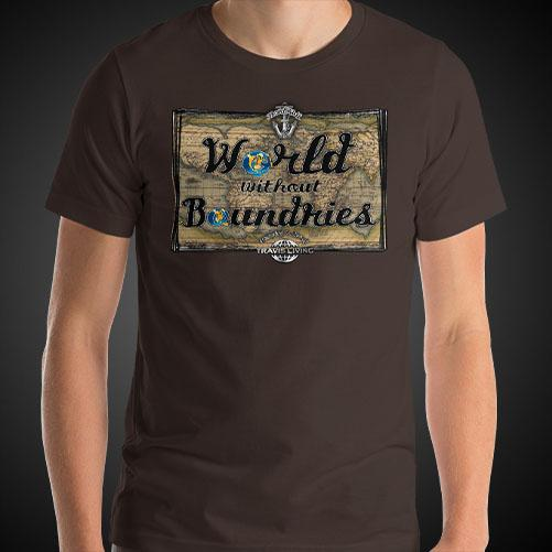 World Without Boundaries Travel Shirt Mens World Travel T-Shirt Men Tees - Travell Well