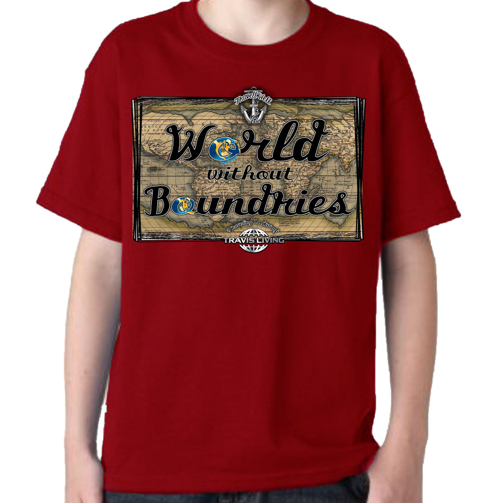 Travell Well Shirt Boys Travel World Without Boundaries T-Shirt Boy Tees