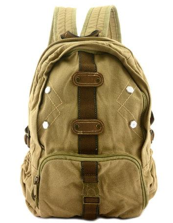 Travel Canvas Backpack Classic Vintage Stylish Rucksack Black SchoolBags - Travell Well