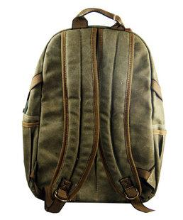 Top Quality Stylish Canvas Backpack Black Rucksack Vintage Bags Black | Khaki | Green Backpacks - Travell Well