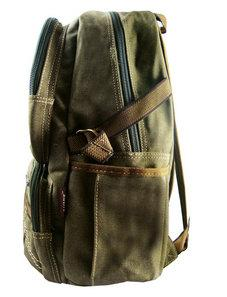 Military Green Canvas Backpack Quality Rucksack Vintage Travel Style Bags Black | Khaki | Green Backpacks - Travell Well