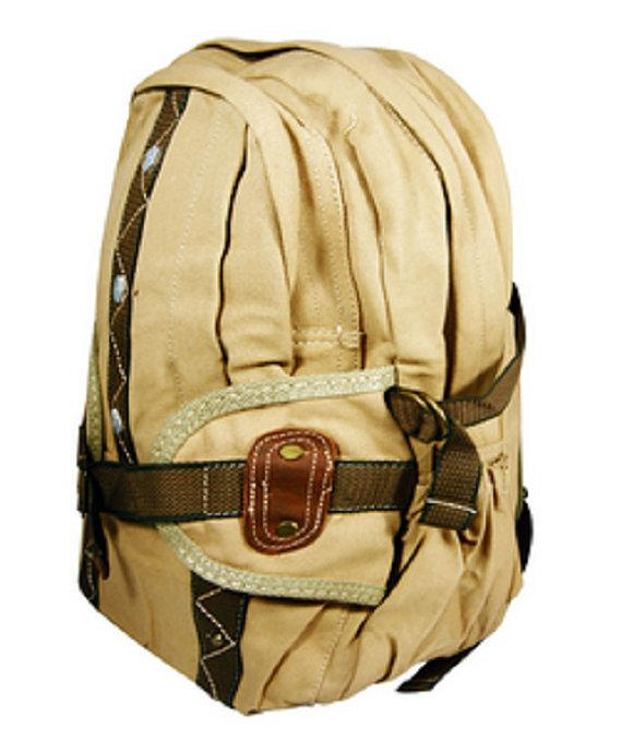 Khaki Tan Canvas Backpacks Quality Military Rucksack Vintage Travel Style in Black | Khaki | Military Green Backpack - Travell Well